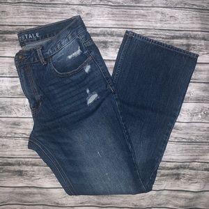 EUC Medium Distressed Wash Boot Cut Jeans